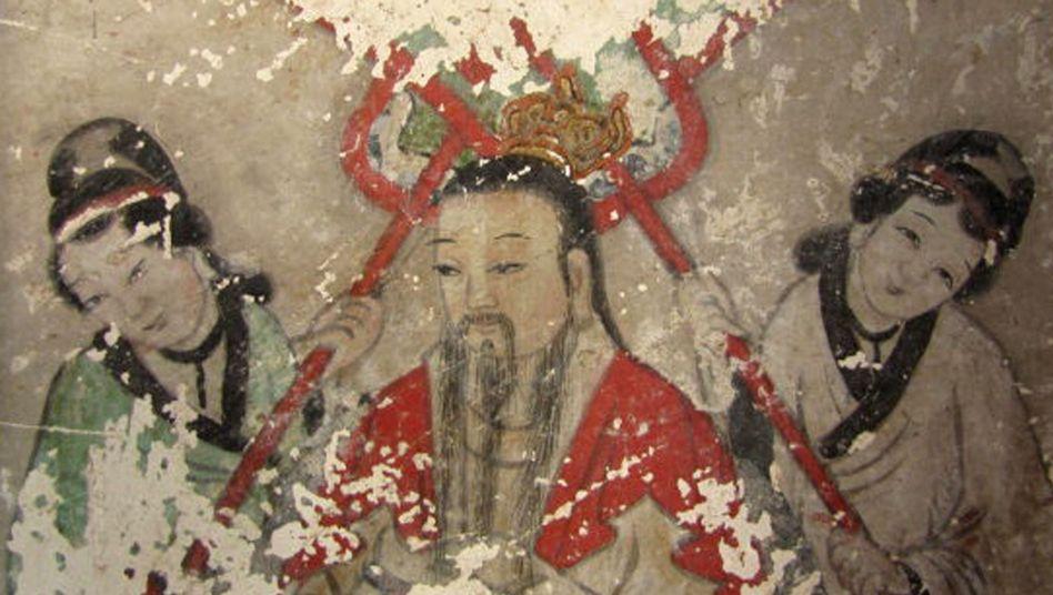 Historische Fresken aus einem Tempel in Chaoyang