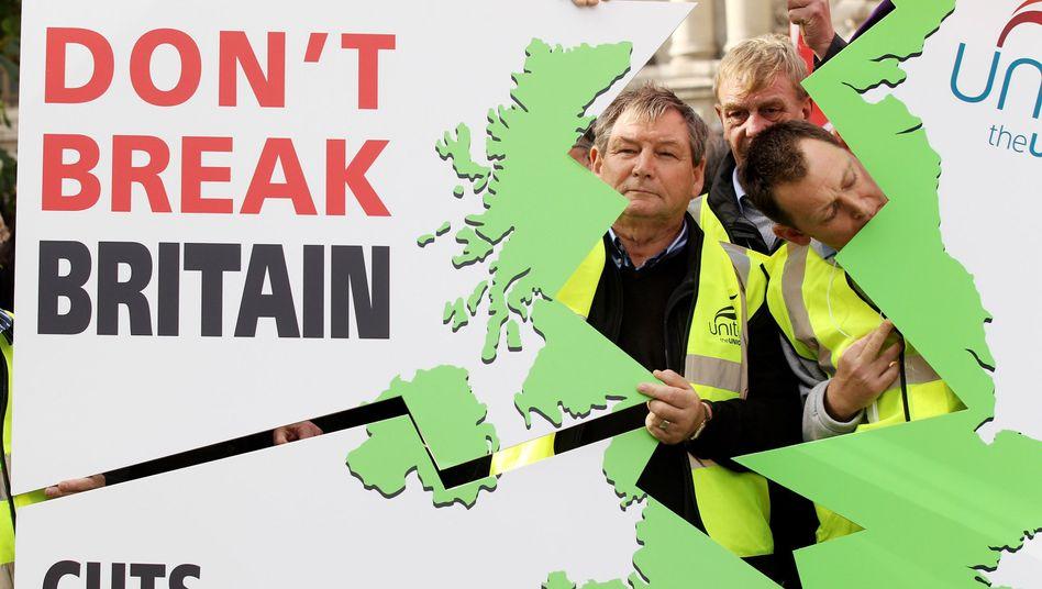 Anti-Spar-Protest in London: Alle Bereiche des öffentlichen Lebens betroffen