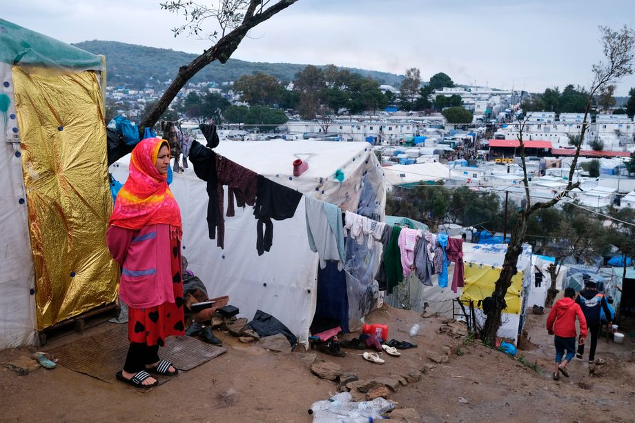 Überfülltes Flüchtlingslager Moria auf Lesbos (im März 2020)