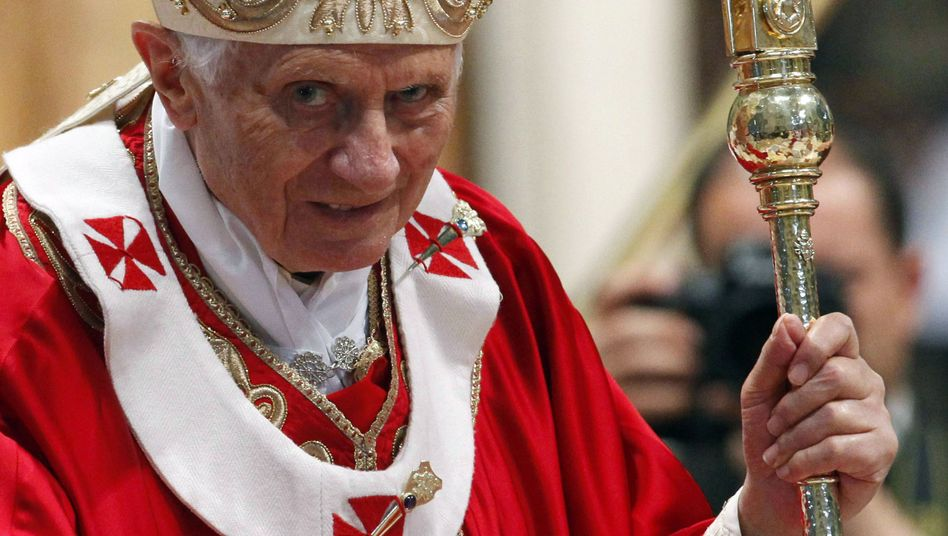 Pope Benedict XVI is furious over the cover of a German satire magazine that shows him soiled.