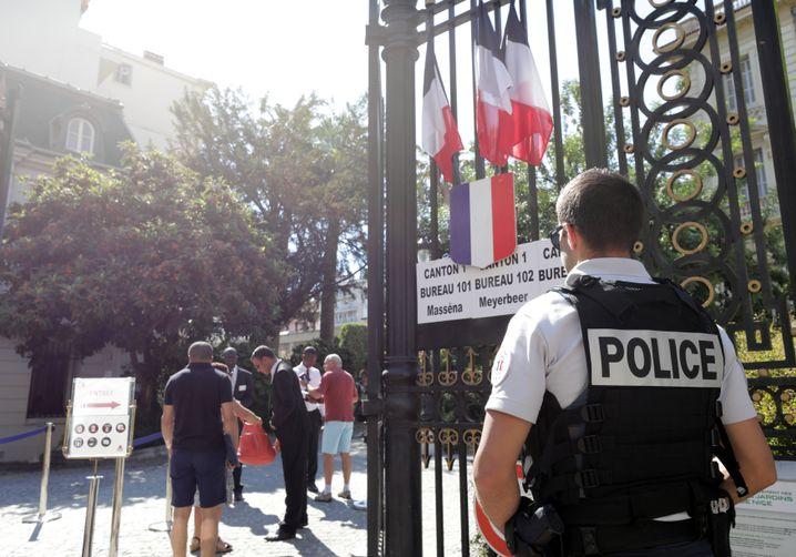Polizist in Nizza