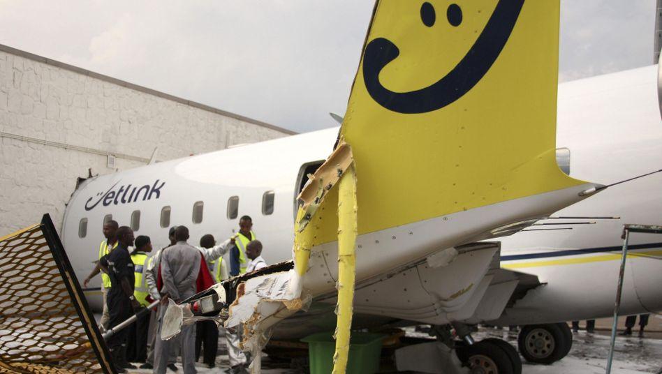 Crash in Kigali: Ein Flugzeug raste in die VIP Lounge auf dem ruandischen Flughafen
