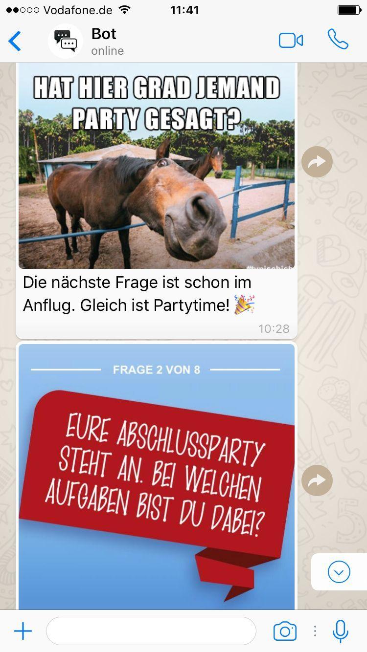 EINMALIGE VERWENDUNG Screenshots WhatsMeBot Bundesagentur für Arbeit