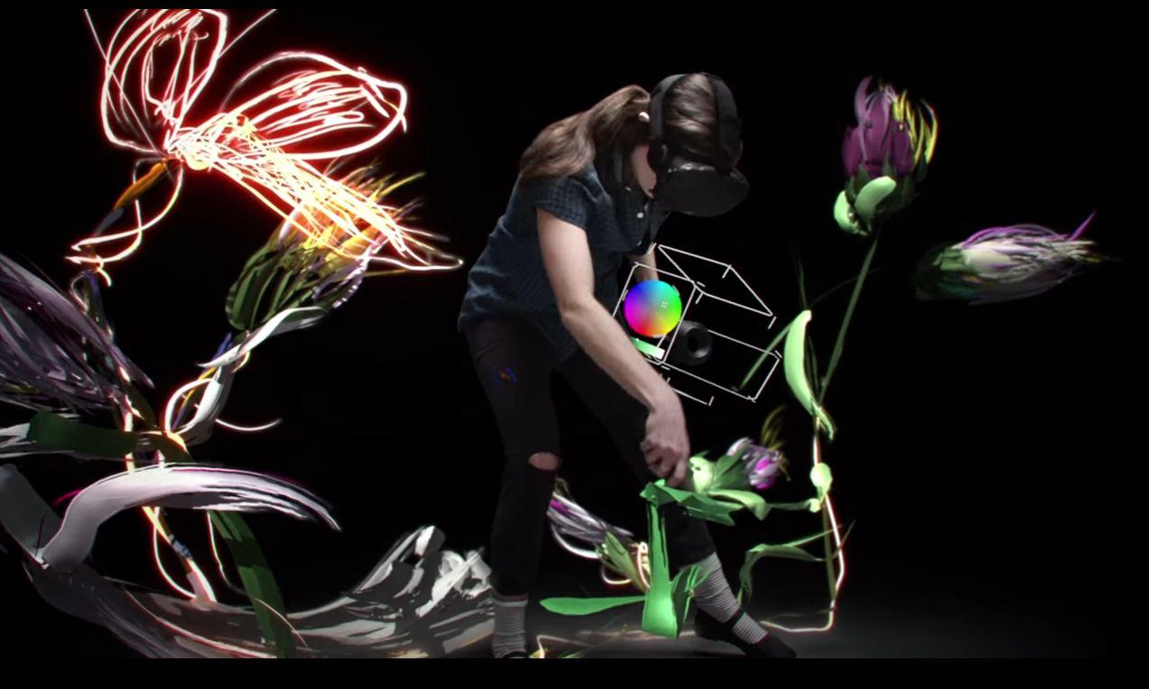 NUR ALS ZITAT Screenshot Fortbewegung VR/ tiltbrush-vr