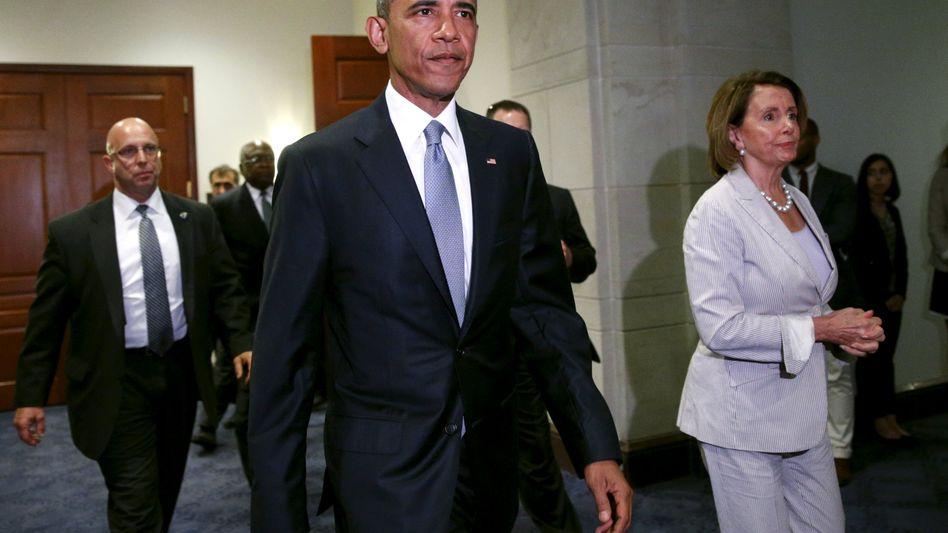 """Präsident Obama, Widersacherin Pelosi: """"Alles in Bewegung"""""""