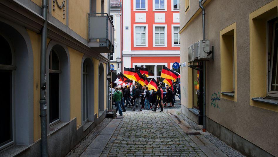 Demo von Rechtsextremen in Bautzen
