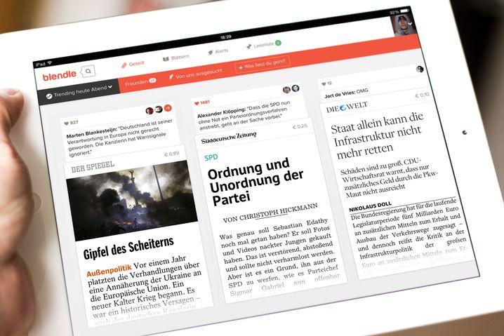 Blendle auf einem iPad: Der Dienst startet in Deutschland mit namhaften Partnern