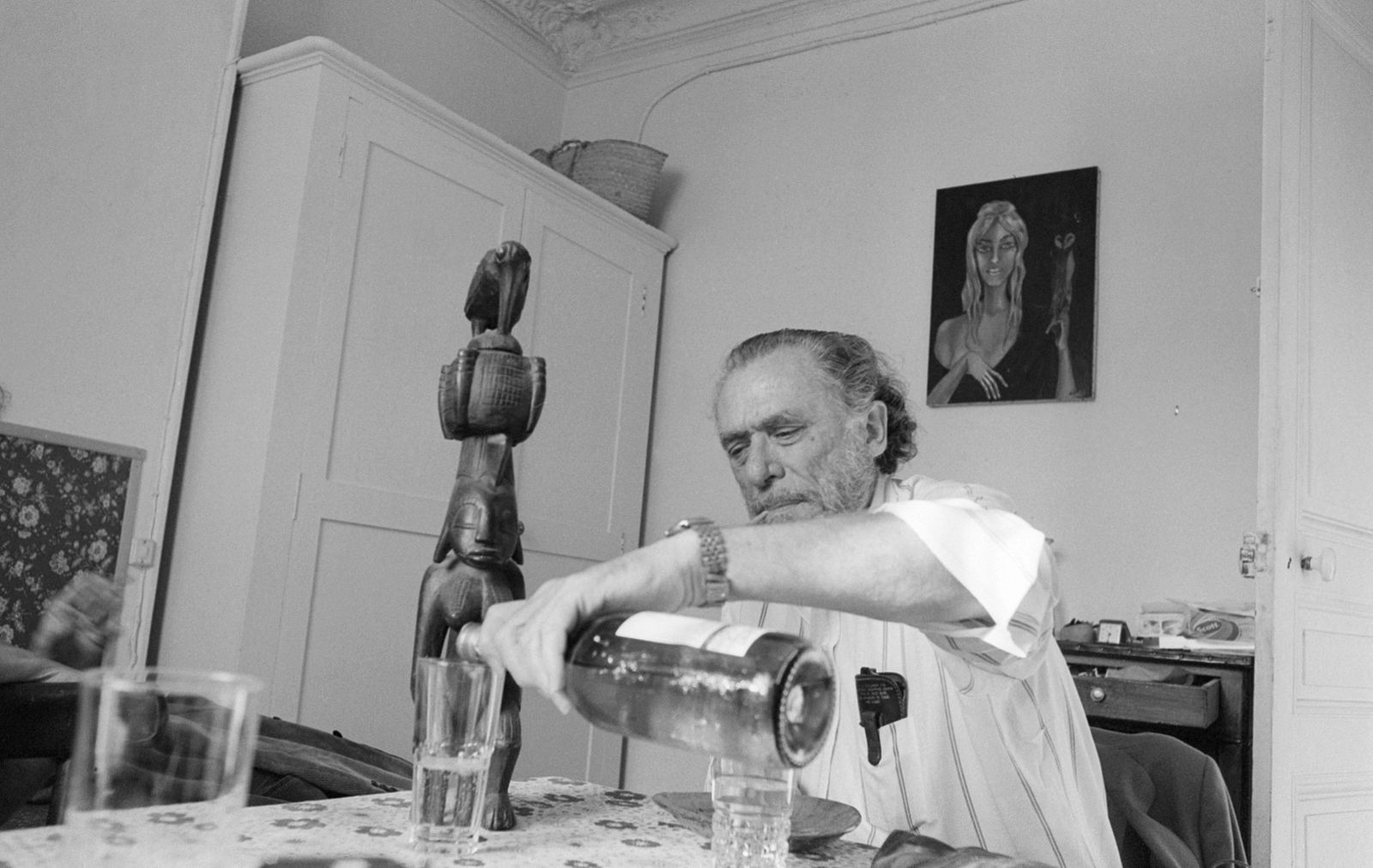 Portrait of Charles Bukowski, le 9 septembre 1978, San Pedro, Los Angeles, California, USA !AUFNAHMEDATUM GESCHÄTZT! PU