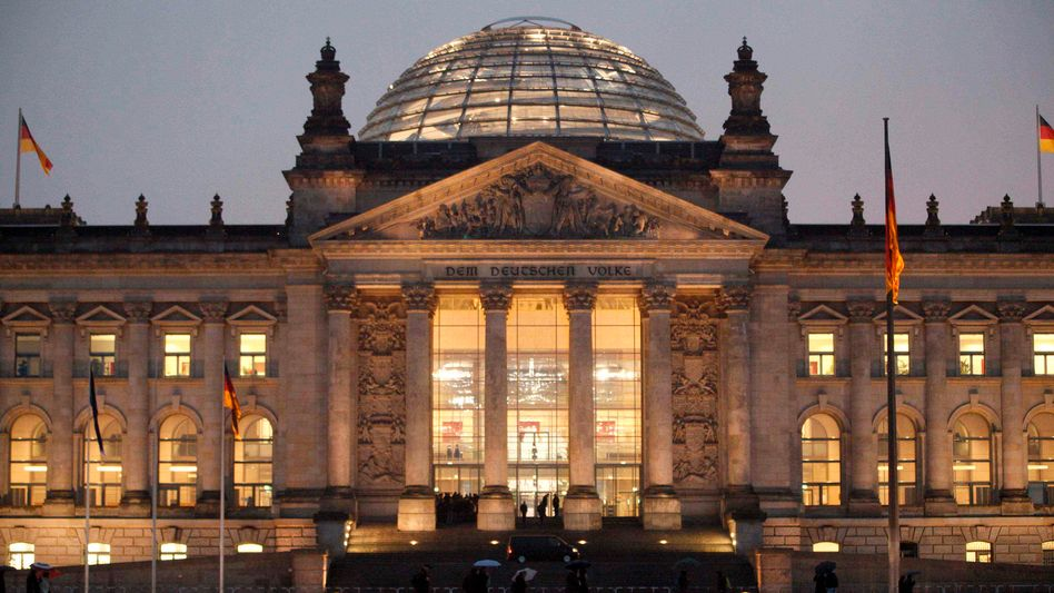 The Reichstag, Germany's parliament building in Berlin.
