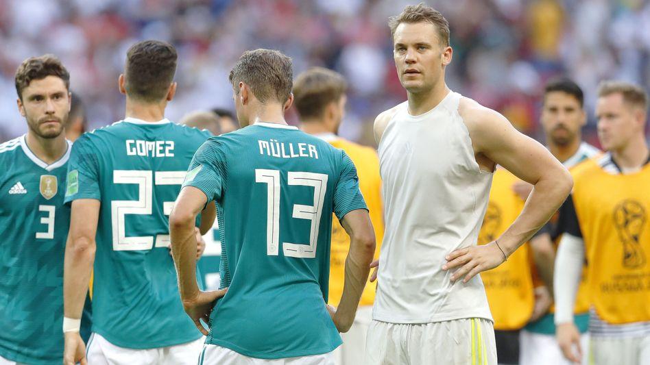 DFB-Spieler nach dem WM-Aus