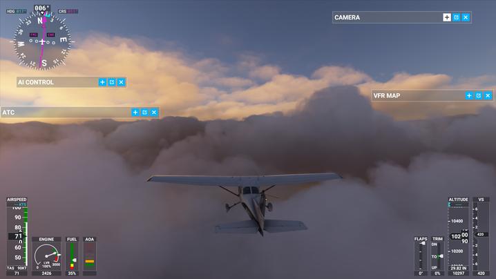 """Testflug auf unserem Rechner: So sieht der """"Flight Simulator"""" beim Fliegen aus"""