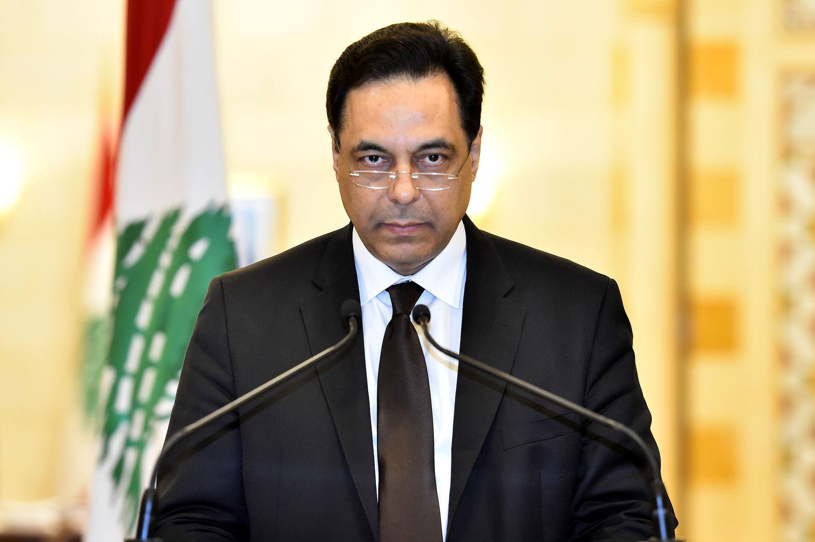 Lebanese government resigns, Beirut, Lebanon - 10 Aug 2020