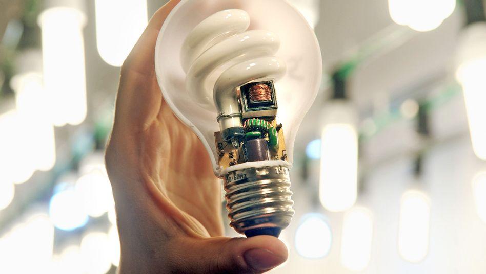 Energiesparlampe: Mängel bei der Entsorgung