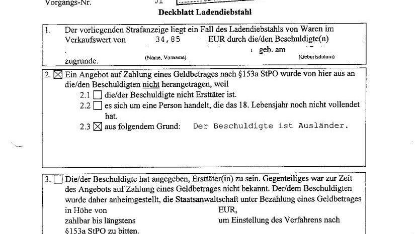 """Die Polizei Chemnitz begründet: """"Der Beschuldigte ist Ausländer."""""""