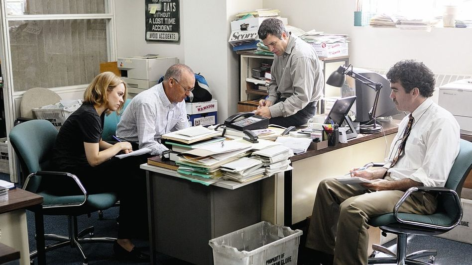 Rachel McAdams, Michael Keaton, Mark Ruffalo, Brian D'Arcy James in »Spotlight«