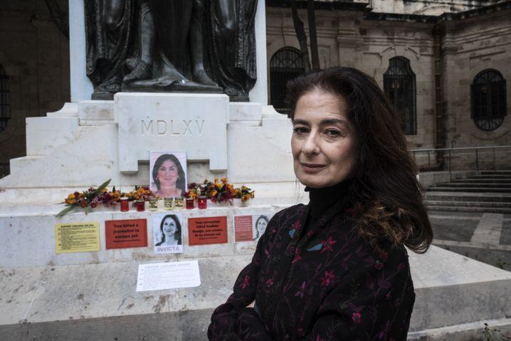 Daphne Caruana Galizia's sister, Corinne Vella