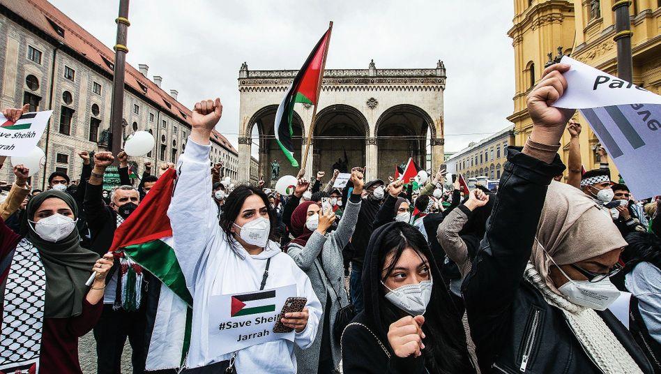 Propalästinensische Proteste in München: Hochemotionale Stimmung