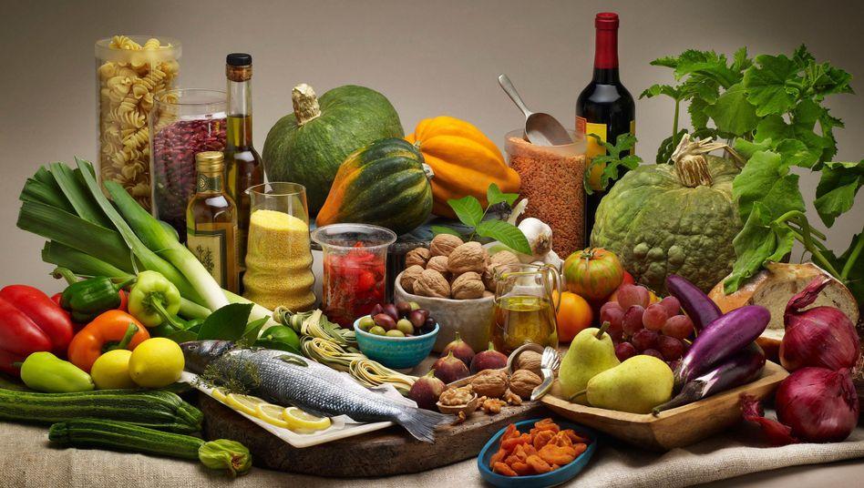Mediterrane Kost: Viel Gemüse, Fisch und Olivenöl haben einen positiven Gesundheitseffekt