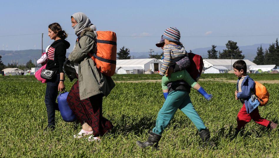 Flüchtlinge bei Idomeni