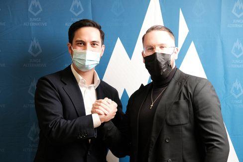 Volkmarsen am 17. April 2021: Neue JA-Chefs Carlo Clemens und Marvin Neumann