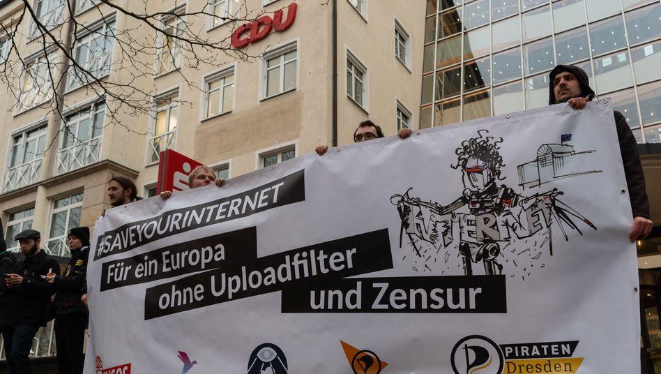 Protest gegen Urheberrechtsreform