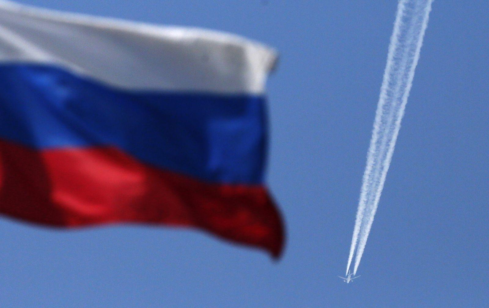 Russland / flugzeug / Flagge