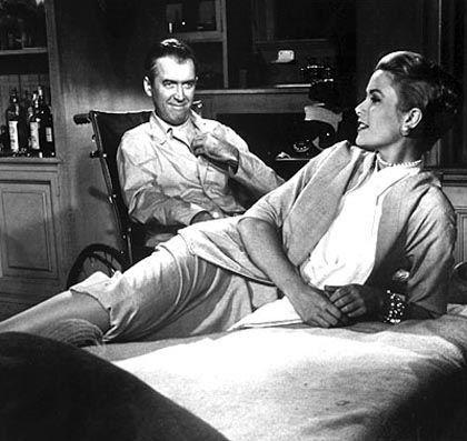 """James Stewart und Grace Kelly in """"Fenster zum Hof"""": Mode der Zukunft - wie Hitchcock ohne Haarspray"""