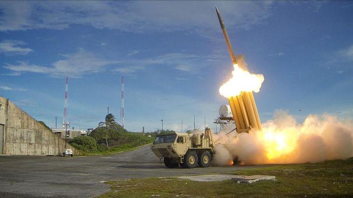 THAAD-System bei einem Test der US-Armee (Archivbild)