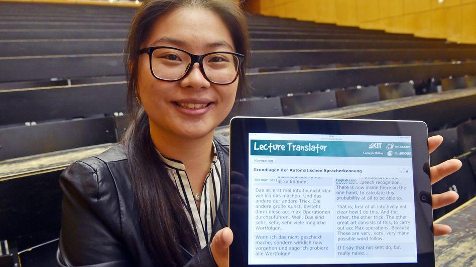 Studentin Yanglingzi Wang am KIT: Mindestens 80 Prozent verstanden