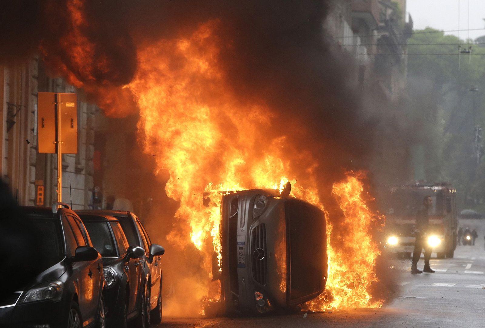 Mailand Expo Straßenschlacht Krawalle