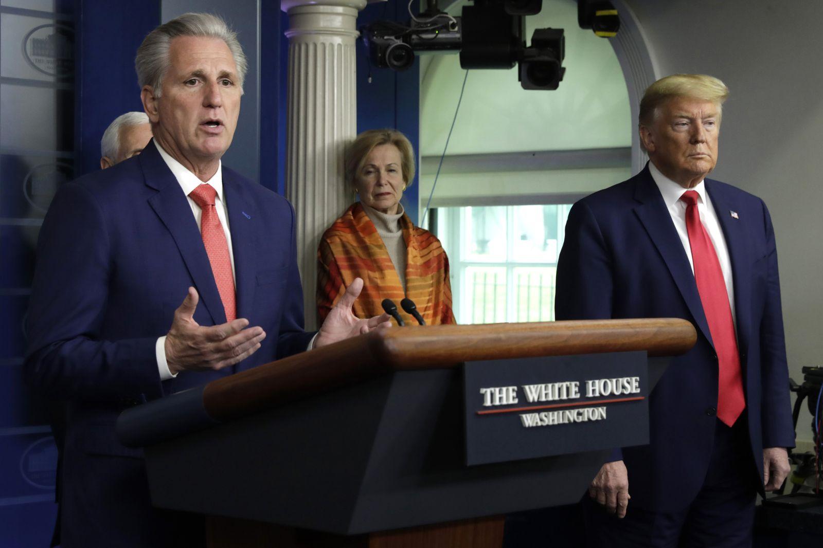 Donald Trump speaks on the Coronavirus - Washington, Usa - 03 Apr 2020