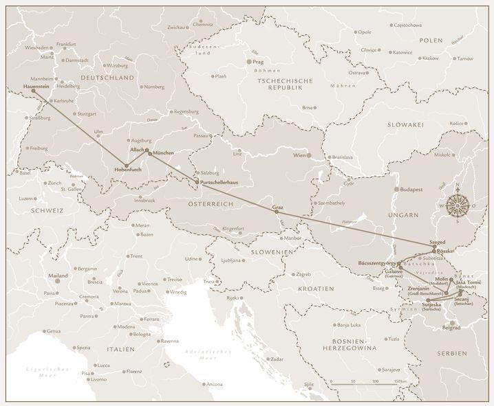 Fluchtroute: In 21 Tagen quer durch Europa