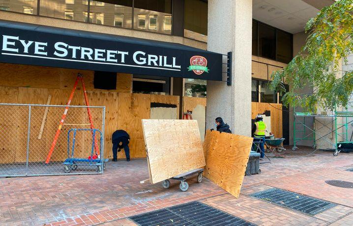 Geschäfte in D.C.: Angst vor Unruhen