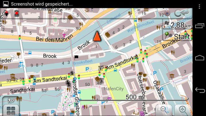 OpenStreetMap: Mit der App OsmAnd kann man offline navigieren