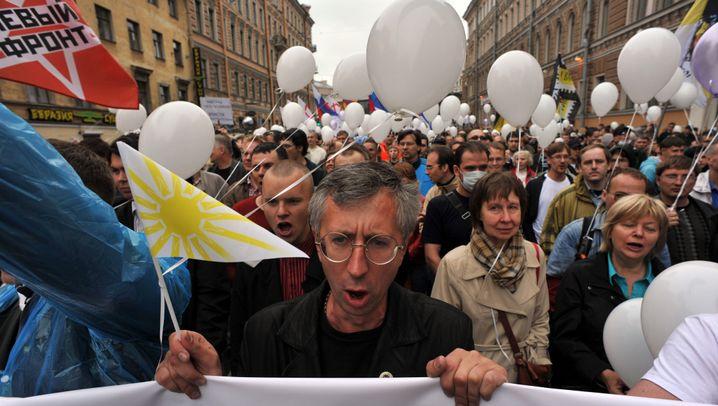 Massendemo in Moskau: Wutmarsch gegen Putin