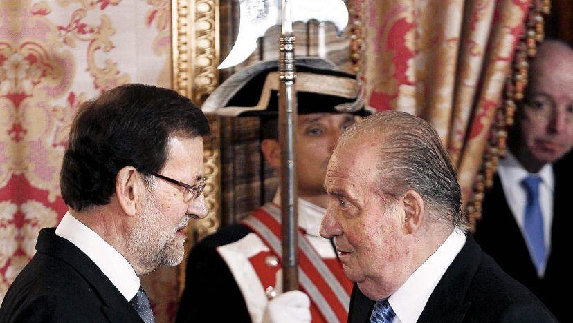 Premier Rajoy, König Juan Carlos: Gleichauf mit Botswana