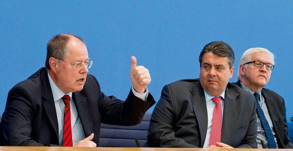 SPD-Spitzenpolitiker Steinbrück, Gabriel, Steinmeier