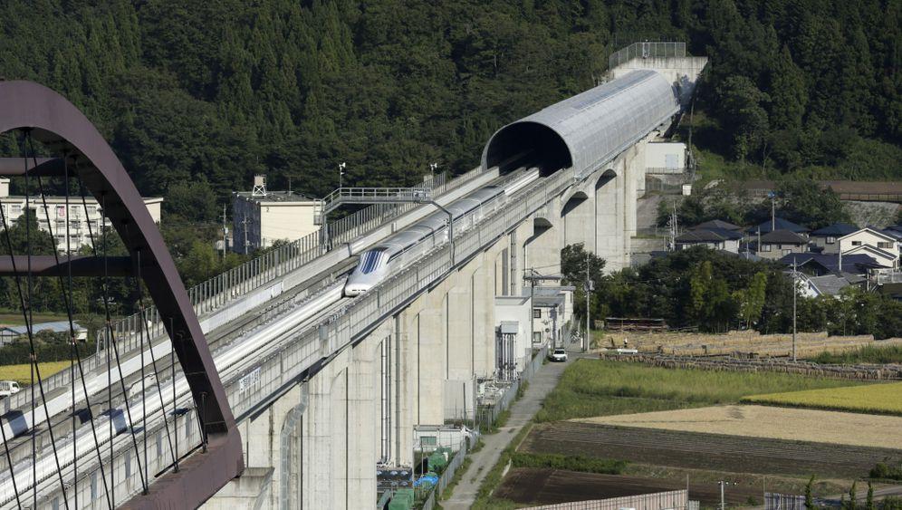 Neue Magnetzugstrecke in Japan: Schienenblitz für 66 Milliarden Euro
