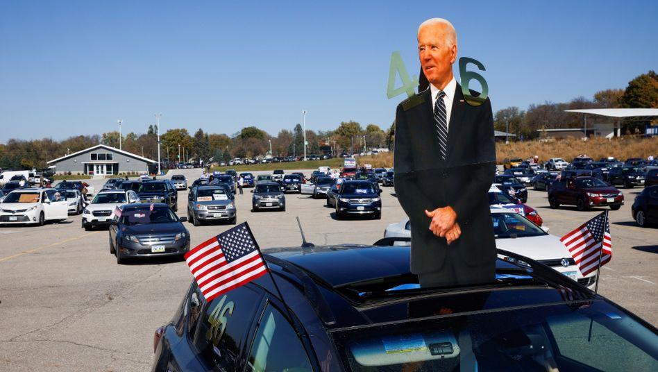 Biden-Anhänger in Des Moines, Iowa