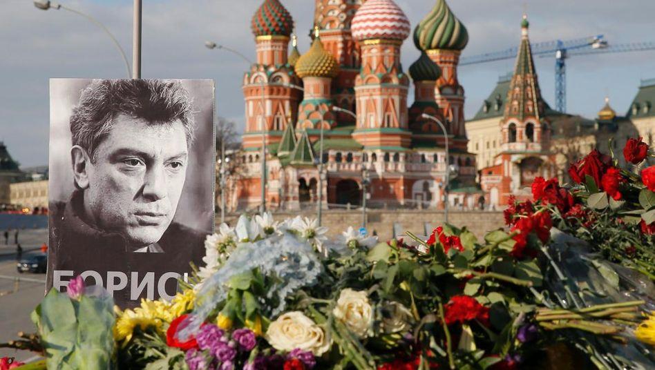 Nemzow-Gedenken in Moskau