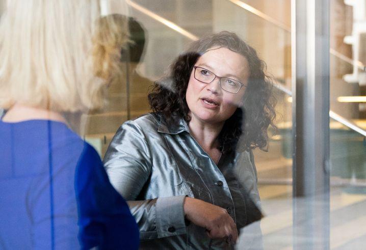 Andrea Nahles (vor ihrer letzten Sitzung als SPD-Fraktionsvorsitzende)