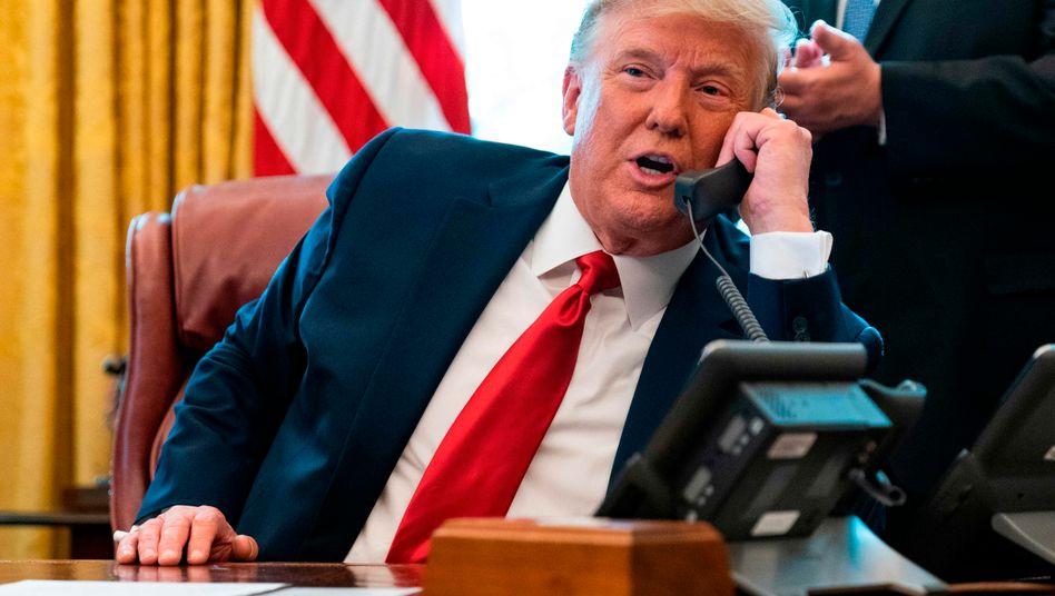 US-Präsident Donald Trump hat mit Marokkos König Mohammed VI. telefoniert (Archivbild)