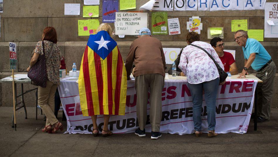 Vorbereitungen für das Referendum in Barcelona