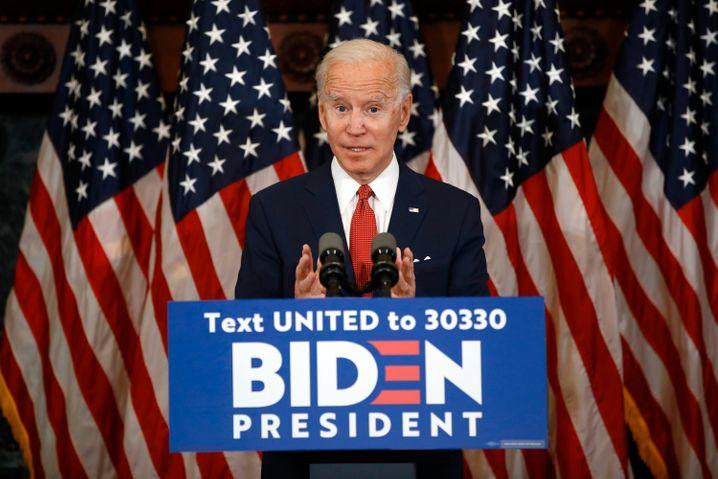 Joe Biden am Dienstag bei einer Rede in Philadelphia, Pennsylvania