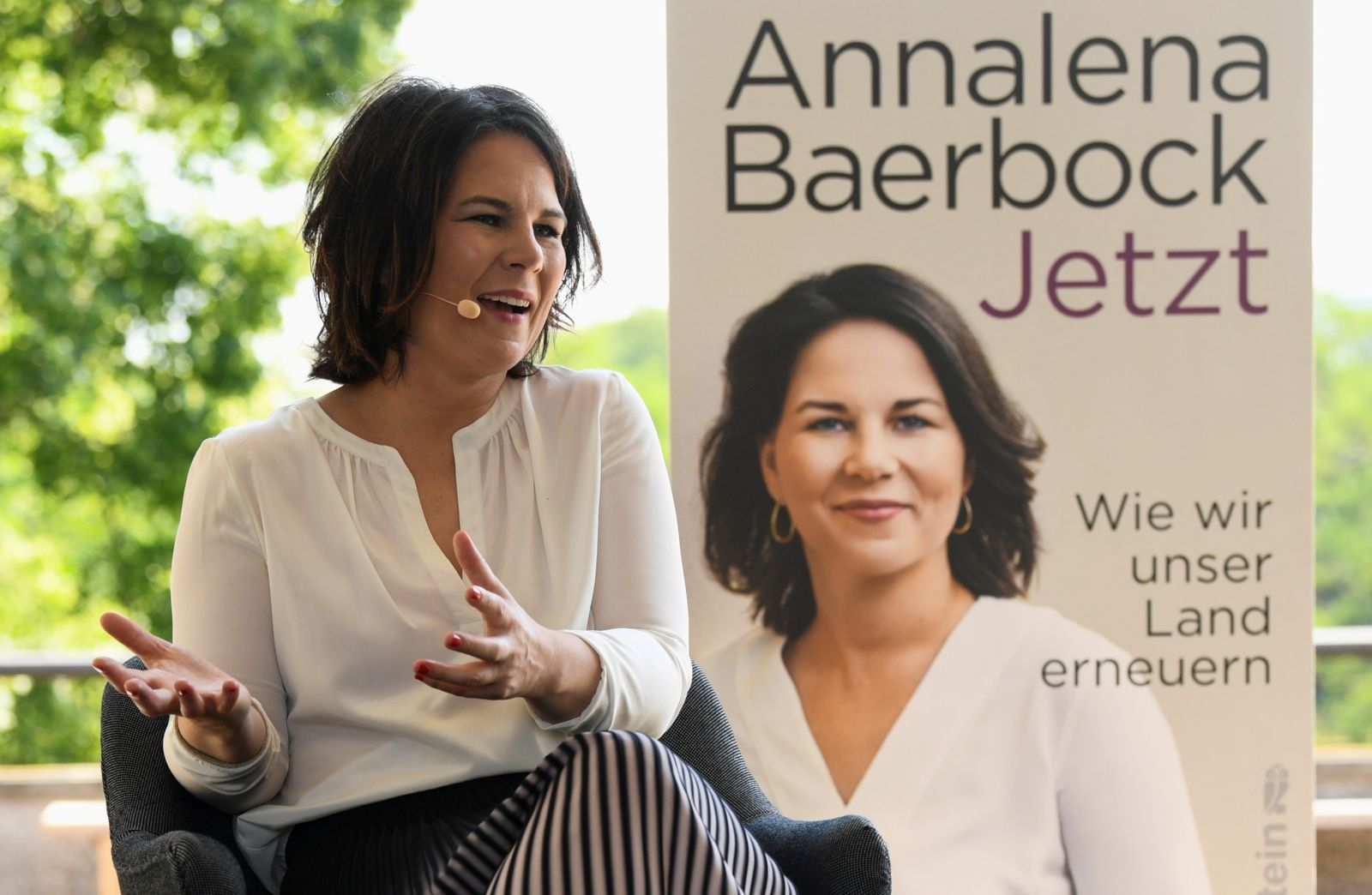 """FILE PHOTO: Germany's Green party candidate for chancellor Baerbock presents her book """"Jetzt: Wie wir unser Land erneuern\"""