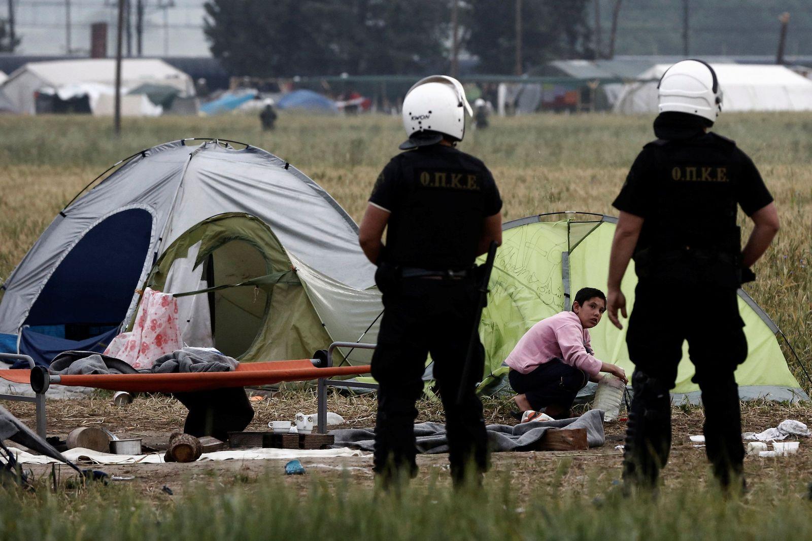 Griechenland Polizei Grenze