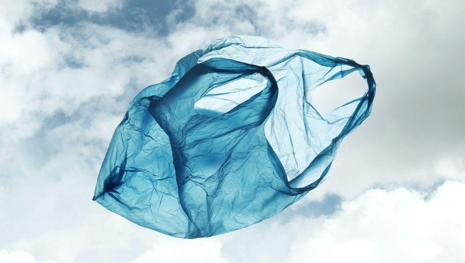 Fliegende Plastiktüte