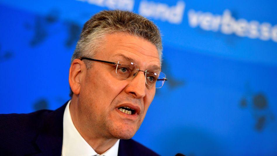 RKI-Chef Lothar Wieler bei einem Pressebriefing in Berlin