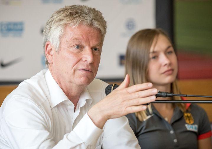 Jürgen Kessing und Gina Lückenkemper,