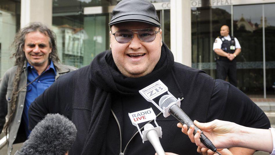 Kim Dotcom: Mega-Pläne für Neuseelands Internet - wenn er nicht ausgeliefert wird.